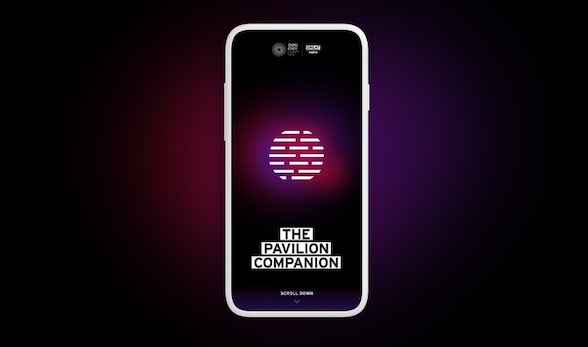 Pavilion Companion on a mobile phone