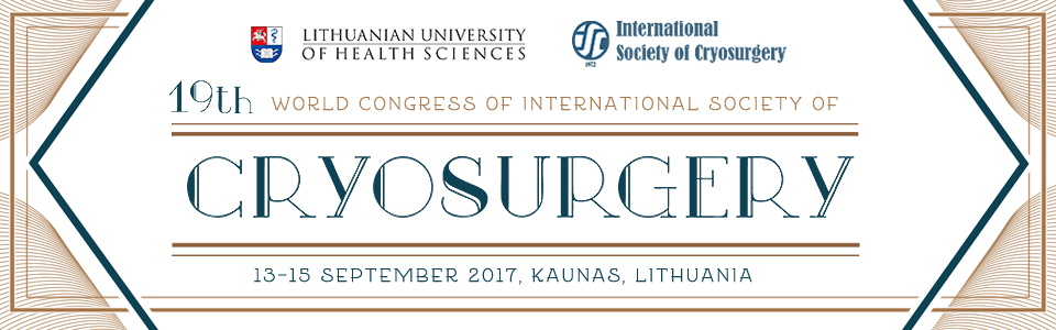 19th World Congress of International Society of Cryosurgery