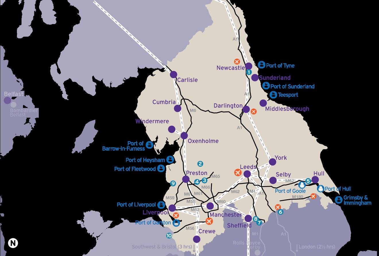 The Northern Powerhouse region