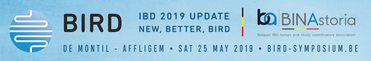 "BIRD Symposium ""IBD 2019 Update: New, Better, BIRD"" - May 25th 2019 - De Montil, Affligem, Belgium"